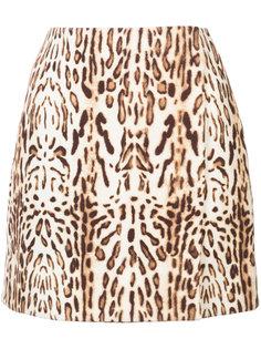 юбка с анималистичным принтом Adam Lippes