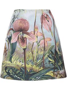 мини юбка с лесным мотивом Adam Lippes