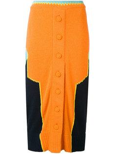 вязаная юбка в стиле колор-блок Maison Margiela
