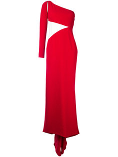 прямое вечернее платье с одним рукавом Romona Keveza