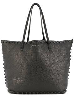 сумка-тоут с отделкой заклепками Dsquared2