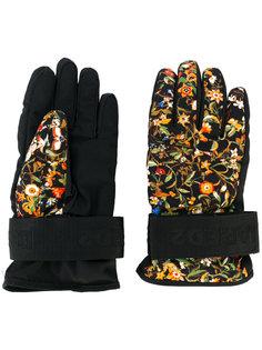 лыжные перчатки с цветочным рисунком Dsquared2