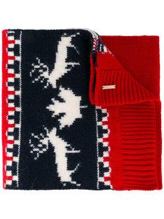 вязаный шарф в технике интарсия Dsquared2