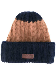 шапка-бини с отделкой в рубчик Dsquared2