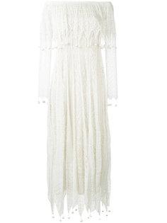 кружевное платье с помпонами Alexander McQueen