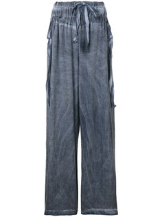 брюки свободного кроя с завязками на поясе Lost & Found Rooms