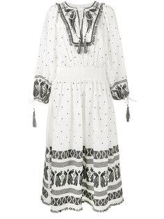 декорированное платье с длинными рукавами Zimmermann