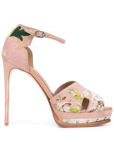босоножки на платформе с открытым носком Alexander McQueen