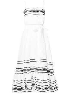 длинное расклешенное платье Lisa Marie Fernandez