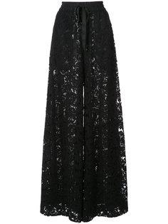 кружевные брюки-палаццо  Adam Lippes