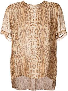 блузка с оцелотовым принтом Adam Lippes