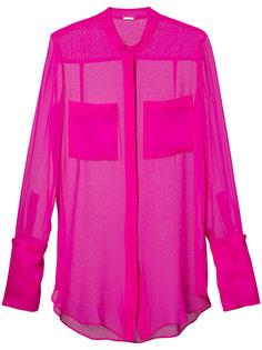 прозрачная блузка на пуговицах Adam Lippes