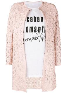 пальто с аппликациями в виде цветов Caban Romantic