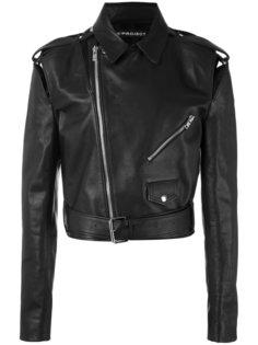 укороченная байкерская куртка с вырезами  Y / Project