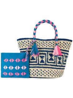 плетеная сумка-тоут Manya Yosuzi