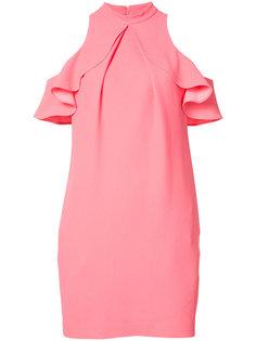 платье со спущенными плечами с рюшами Trina Turk