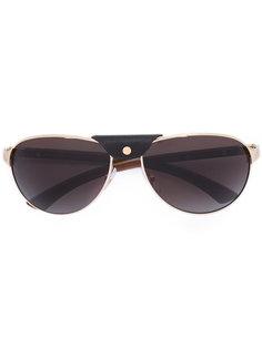 солнцезащитные очки с декором на мосту Cartier