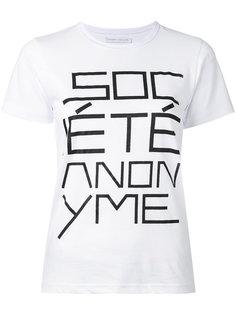 футболка с логотипом Société Anonyme