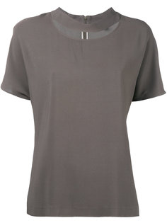 блузка с круглым вырезом с прорезью Eleventy