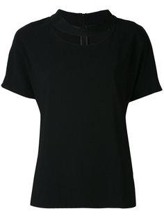 футболка с круглым вырезом с прорезью Eleventy