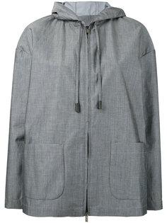 куртка с накладными карманами и капюшоном Eleventy
