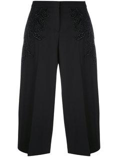 декорированные укороченные брюки  Alexander McQueen