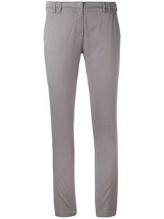 облегающие укороченные брюки Eleventy