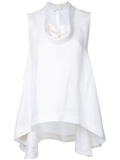 блузка с элементом узла Delpozo