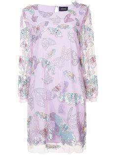 украшенное бисером и пайетками платье  Marchesa Notte