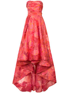 жаккардовое платье с цветочным узором Marchesa Notte