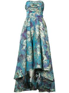 парчовое платье с цветочным узором  Marchesa Notte