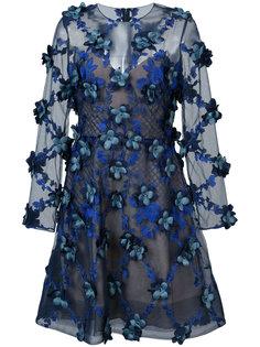 платье с отделкой из 3D цветов Marchesa Notte