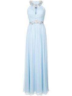 вечернее платье с цветочными вставками Marchesa Notte