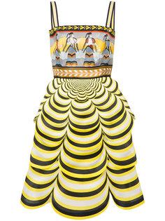 платье с волнистым подолом Pandora Mary Katrantzou