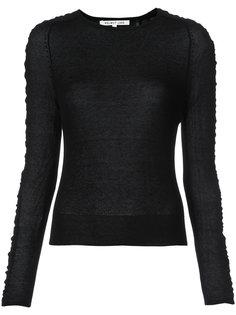 свитер со сборкой на рукавах Helmut Lang