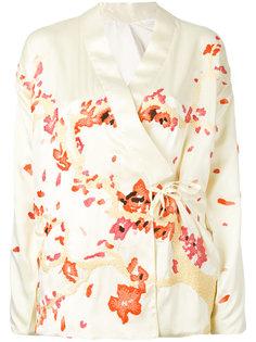 пиджак с запахом и вышивкой Maharishi
