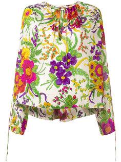 блузка с цветочным принтом Balenciaga