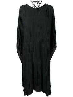 плиссированное платье длины миди Balenciaga