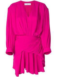 мини-платье с запахом Balenciaga