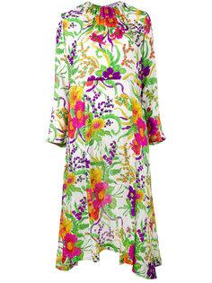 платье с цветочным рисунком Balenciaga