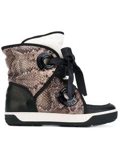ботинки с эффектом змеиной кожи Moncler