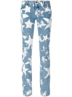 джинсы скинни со звездами с эффектом обесцвечивания  Givenchy