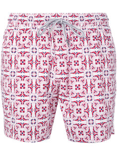 пляжные шорты с геометрическим принтом  Capricode