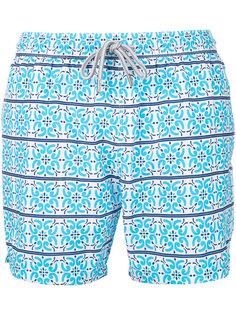 пляжные шорты с мозаичным принтом  Capricode