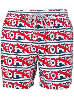 шорты для плавания с цветочным принтом Capricode