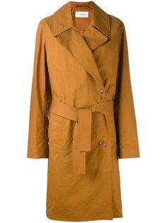 пальто средней длины со смещенной застежкой Lemaire