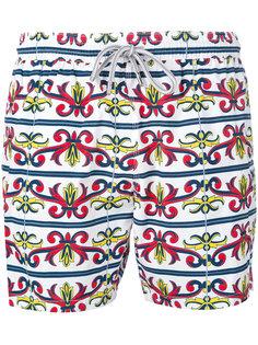 пляжные шорты с принтом в стиле барокко  Capricode