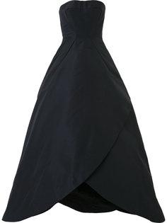 бальное платье без бретелей Zac Posen