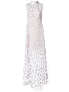 длинное текстурное платье на пуговицах  Delpozo