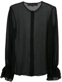 рубашка с рюшами на рукавах Martin Grant